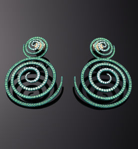 """KALEIDOSCOPE OF HOPE"" - TSAVORITE - EARRINGS"