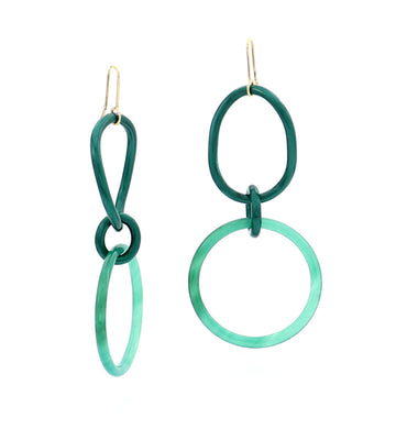 STELLA COLLECTION - 18KT GOLD - TITANIUM - AVENTURINE LINKS LARGE