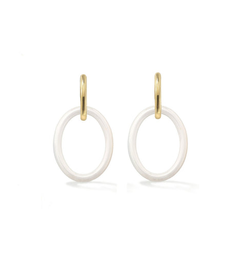 MAMA COLLECTION EARRINGS - WHITE CERAMIC