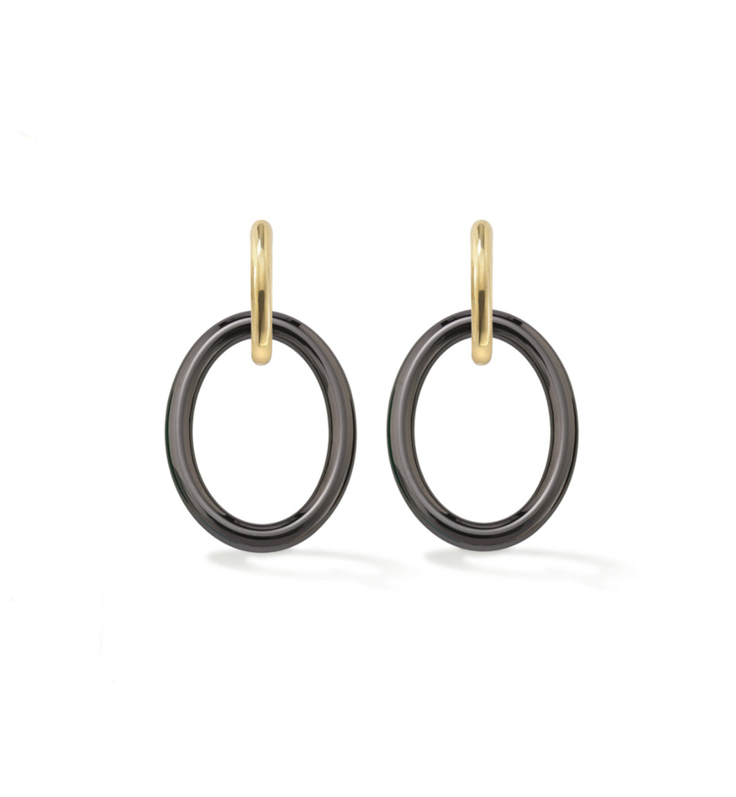 MAMA COLLECTION EARRINGS - BLACK CERAMIC
