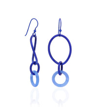 Load image into Gallery viewer, STELLA COLLECTION - STERLING SILVER COBALT BLUE - BLUE AGATE LINKS