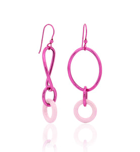 STELLA COLLECTION - STERLING SILVER PINK - PINK LINKS