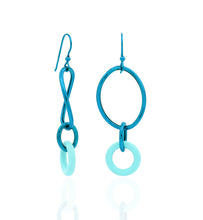 Load image into Gallery viewer, STELLA COLLECTION - STERLING SILVER AQUA BLUE - TURQUOISE LINKS