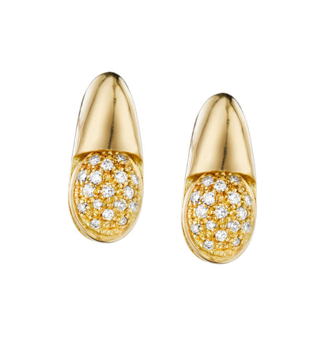 GOCCE COLLECTION WHITE DIAMONDS EARRINGS - 18KT GOLD