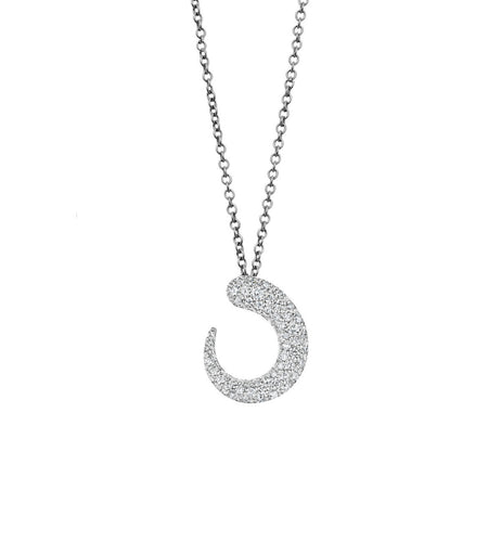 GOCCIOLINE COLLECTION WHITE DIAMONDS NECKLACE - 18KT WHITE GOLD