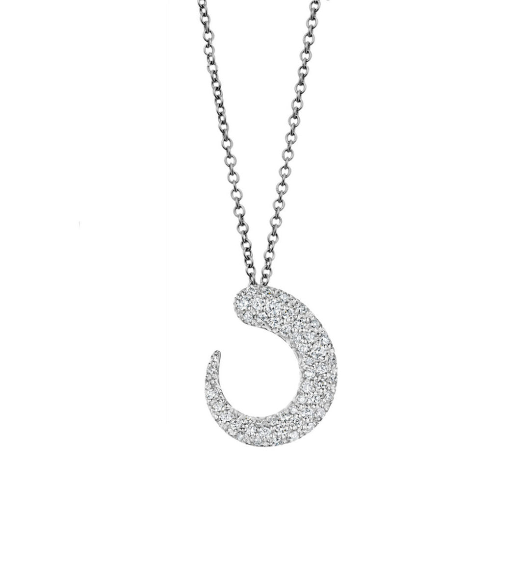 GOCCIOLINE COLLECTION WHITE DIAMONDS NECKLACE - WHITE GOLD