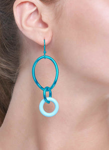 STELLA COLLECTION - STERLING SILVER AQUA BLUE - TURQUOISE LINKS