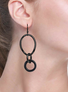 STELLA COLLECTION - STERLING SILVER BLACK - ONYX LINKS