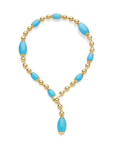 TUCA TUCA COLLECTION TURQUOISE NECKLACE - 18