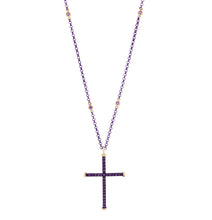 Load image into Gallery viewer, CROSS - 18KT YELLOW GOLD - STERLING SILVER - TITANIUM