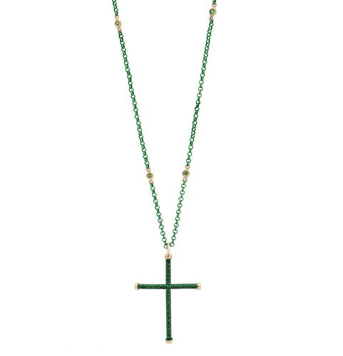CROSS - 18KT YELLOW GOLD - STERLING SILVER - TITANIUM