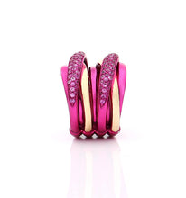 "Load image into Gallery viewer, ""LIZZY"" - 18KT GOLD - PINK SAPPHIRES"