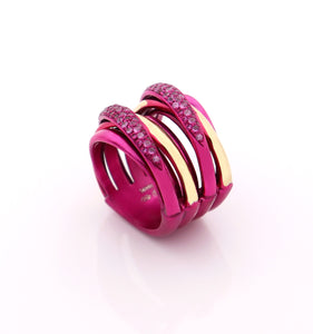 """LIZZY"" - 18KT GOLD - PINK SAPPHIRES"