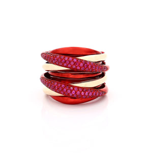 """LIZZY"" - 18KT GOLD - RUBIES"