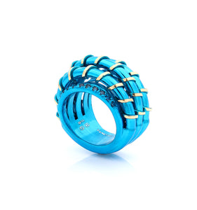 """MARGAUX"" - 18KT GOLD - LIGHT BLUE SAPPHIRES"