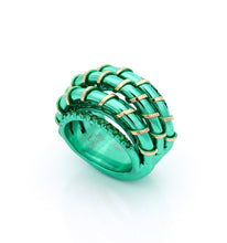 "Load image into Gallery viewer, ""MARGAUX"" - 18KT GOLD - TSAVORITES"