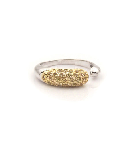 GOCCE COLLECTION YELLOW SAPPHIRES RING - WHITE GOLD - SMALL
