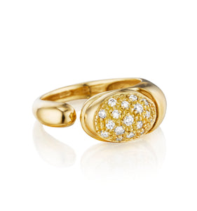 GOCCE COLLECTION WHITE DIAMONDS RING - 18KT GOLD