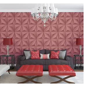 Red 3D Design PVC Wallpaper for wall by Eurotex