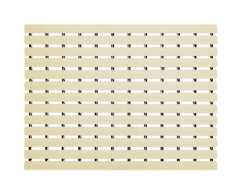Premium Shower Mat | Bath Mat (61 x 45cm) | Anti Slip Mat | Skid Proof Mat For Bathroom And Wet Area | Almond Beige