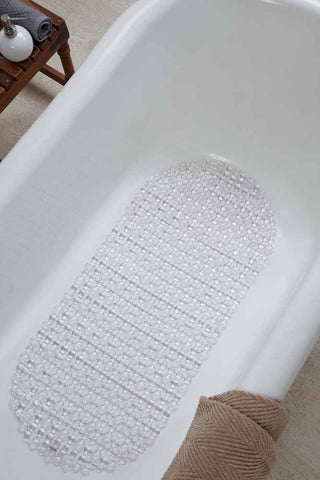 Obsessions PVC  Shower Mat 36x75  (Clear Dost, Large)