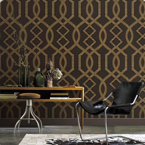 Abstract Design Wall Wallpaper | Brown Color Wallpaper for Walls | Wallpaper for bedroom Living Room