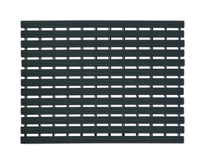 Premium Shower Mat | Bath Mat (61 x 45cm) | Anti Slip Mat | Skid Proof Mat For Bathroom And Wet Area | Jet-black