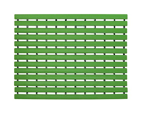 Premium Shower Mat | Bath Mat (61 x 45 cm) | Anti Slip Mat | Skid Proof Mat For Bathroom And Wet Area | Leaf-Green