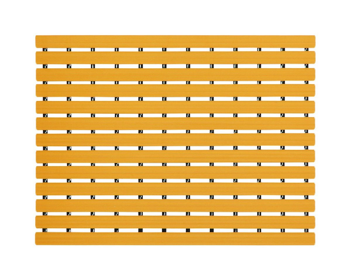 Premium Shower Mat | Bath Mat (61 x 45 cm) | Anti Slip Mat | Skid Proof Mat For Bathroom And Wet Area | Saffron-Yellow