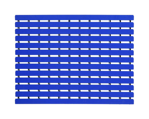 Premium Shower Mat | Bath Mat (61 x 45 cm) | Anti Slip Mat | Skid Proof Mat For Bathroom And Wet Area | Blue