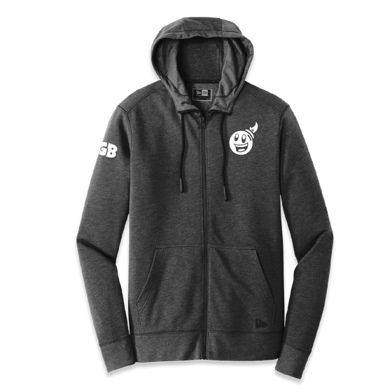 Giant Bomb - New Logo - New Era Zippered Hooded Sweatshirt - PRE-ORDER