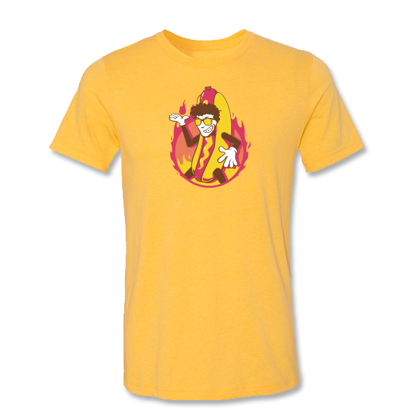 Hot Dog Patrick T-Shirt - Mustard