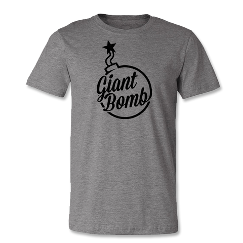 Giant Bomb Vintage Logo T-Shirt - Light Grey Heather