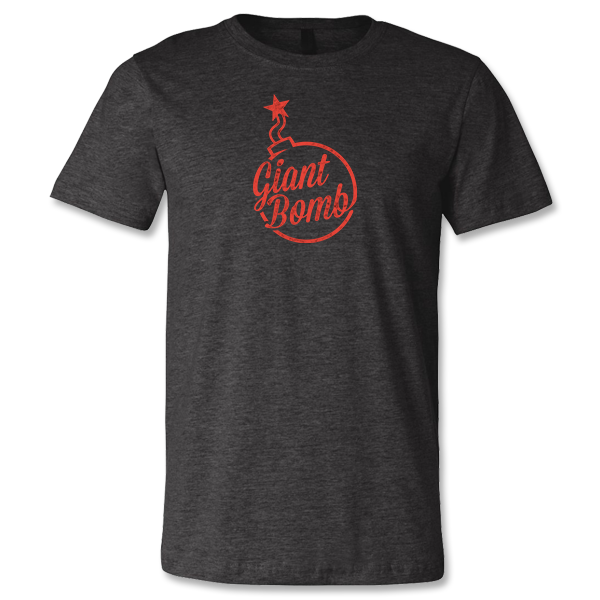 Giant Bomb Vintage Logo T-Shirt - Red Ink