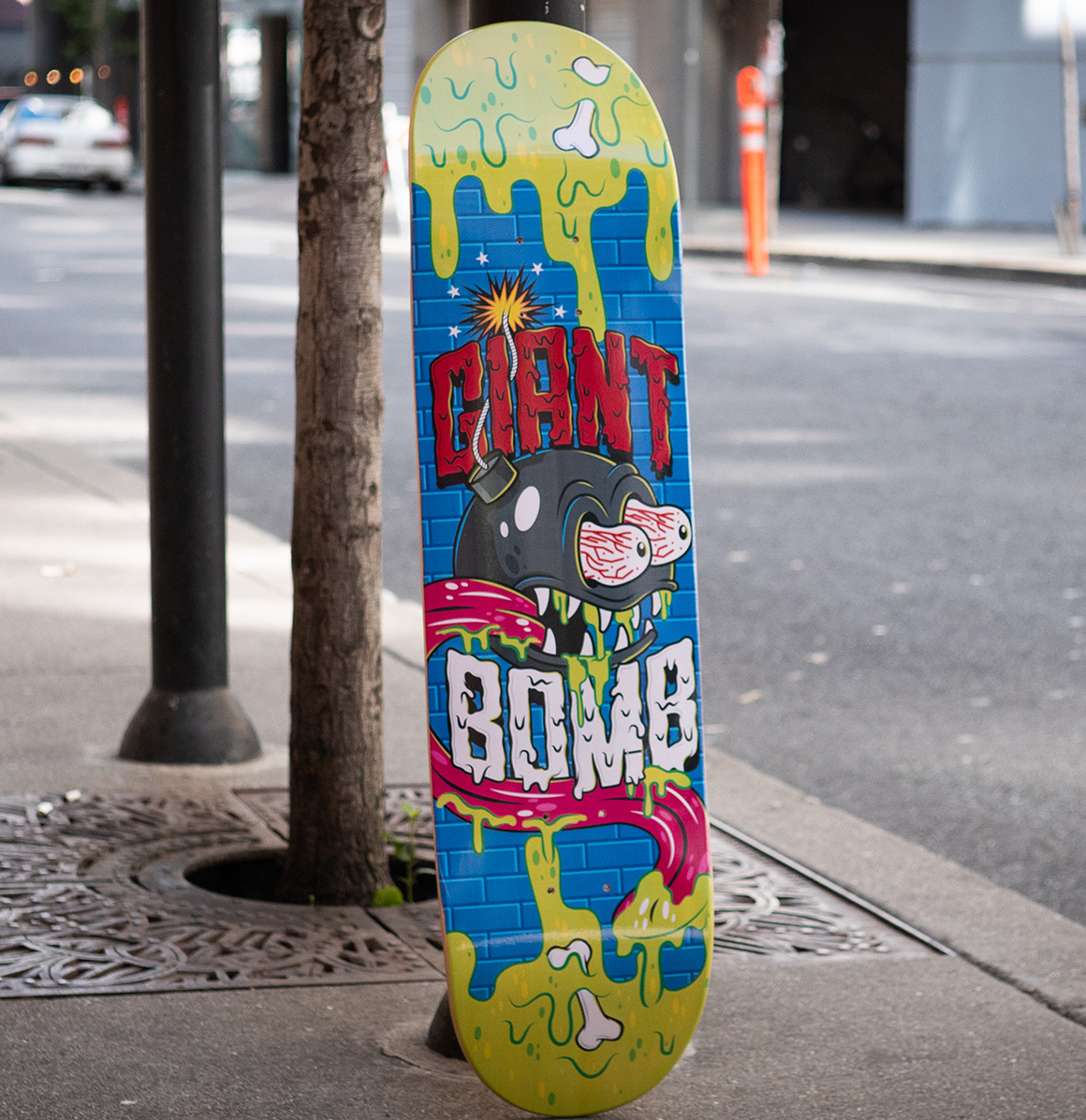 Giant Bomb Skateboard Deck