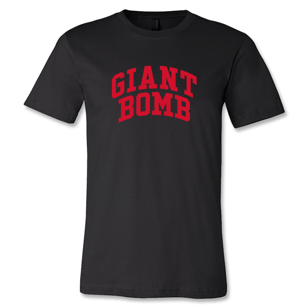 Giant Bomb Collegiate T-Shirt - Black