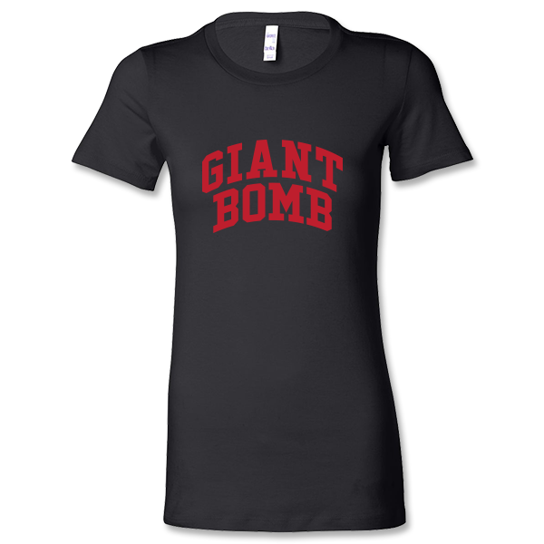 Giant Bomb Collegiate Women's Shirt - Black