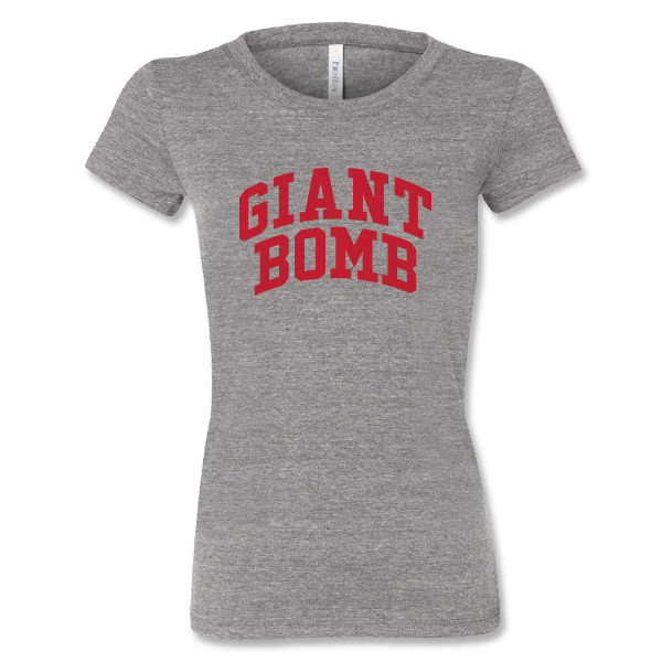Giant Bomb Collegiate Women's Shirt - Athletic Grey
