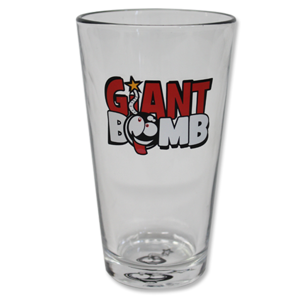 Giant Bomb Pint Glass