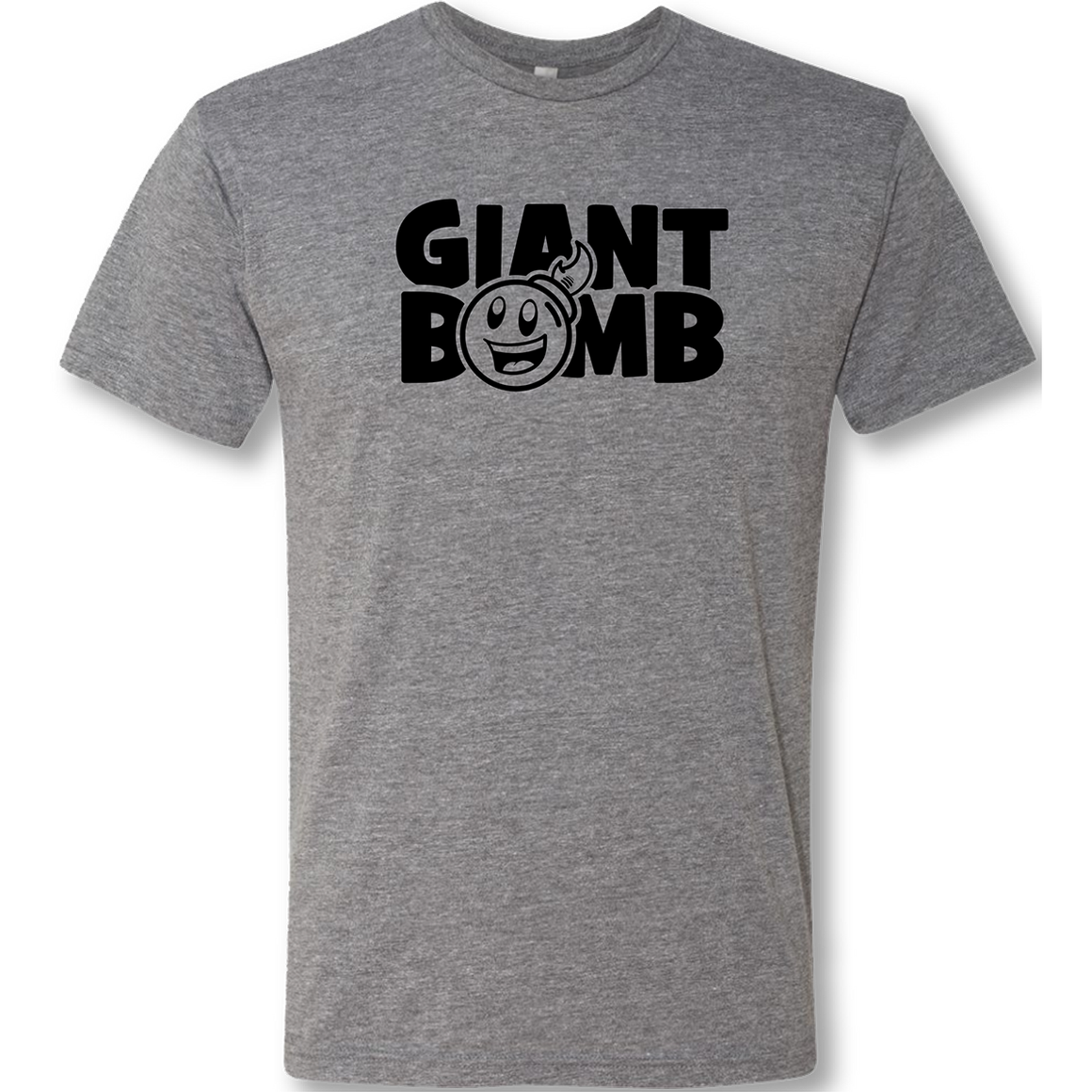 Giant Bomb - New Logo T-Shirt - Heather Grey