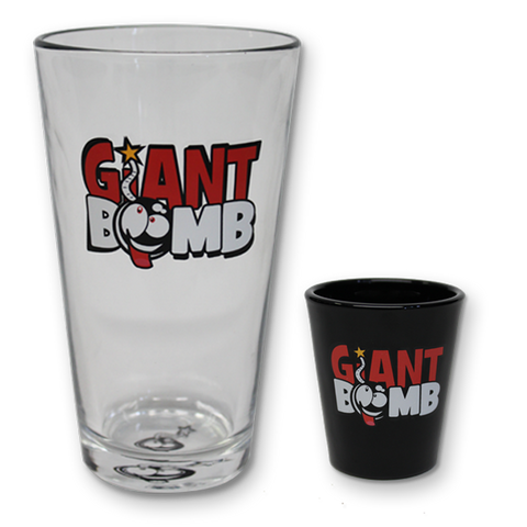 Giant Bomb Shot and Pint Glass Two-Pack