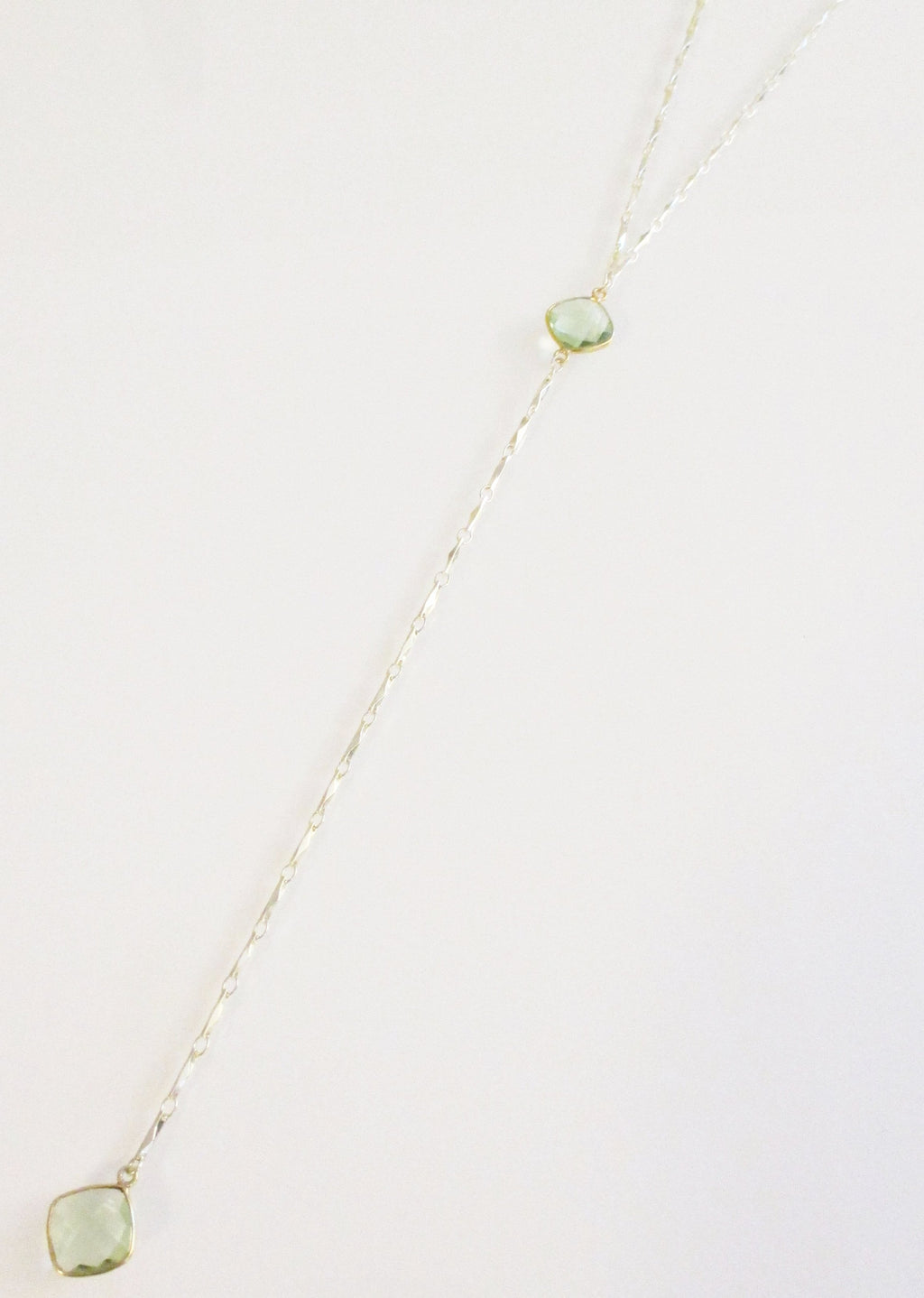 ANYA CELESTE Y NECKLACE GREEN AMETHYST