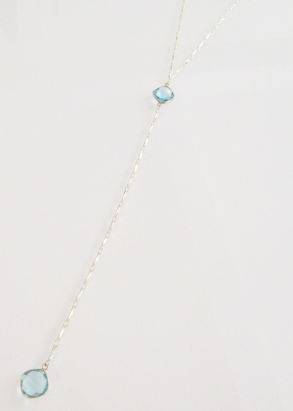 ANYA CELESTE Y NECKLACE BLUE TOPAZ