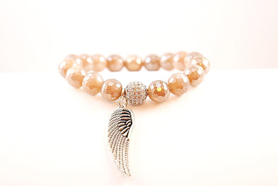 Sunstone Angel Wing Bracelet