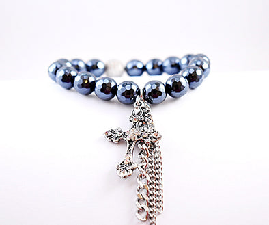Black Cross Bracelet