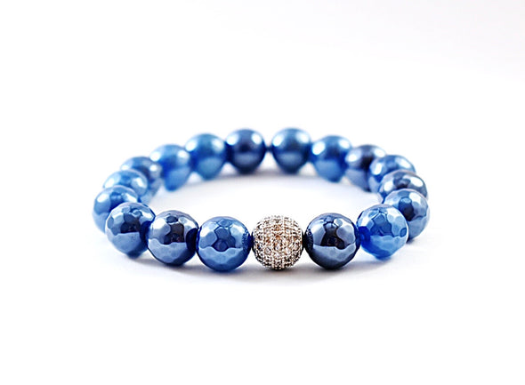 Metallic Blue Bracelet