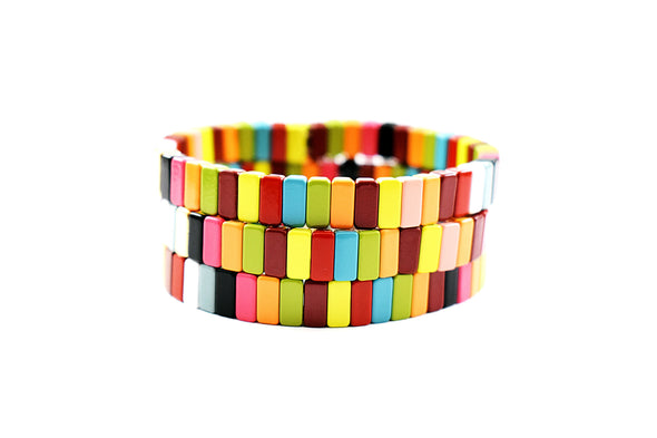 Mini Multicolored Tile Bracelet