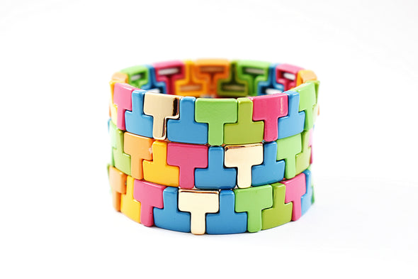 T-Multicolored Tile Bracelet
