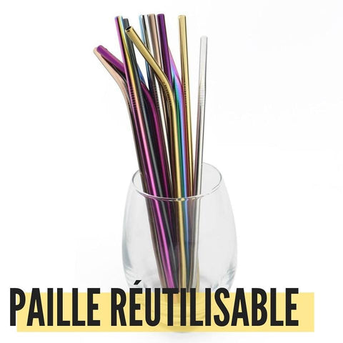 paille réutilisable inox - 365reusable