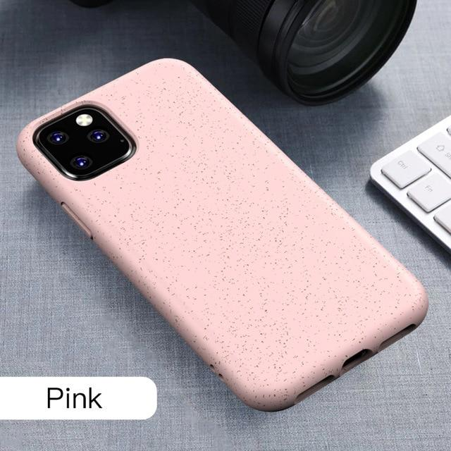IPHONE 11 XR XS Coque biodégradable - paille de blé
